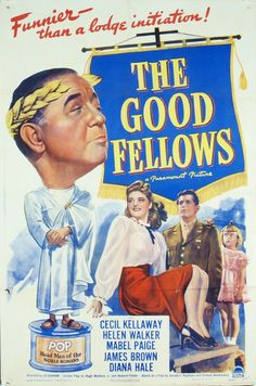 The Good Fellows Stars: Cecil Kellaway, Helen Walker, Mabel Paige, James Brown, Patti Hale ~ Director: Jo Graham Carl Theodor Dreyer, Original Movie Posters, Film Posters, Republic Pictures, Good Fellows, Crime Film, Veronica Lake, Actor James, Golden Age Of Hollywood