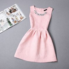 Size S 2XL 2015 New Arrival Women Dress Vestidos Cute Ball Gown Sleeveless Solid Color O neck Summer Appliques Women's Dresses-in Dresses from Women's Clothing & Accessories on Aliexpress.com | Alibaba Group