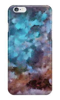"""""""Lilac-azure abstract art"""" iPhone Cases & Skins by floraaplus 