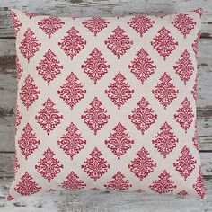 Indigo Lily Light Red Cushions Model  74-BB-50ILILLT03
