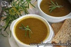 Receita de Sopa Creme de Chuchu e Couve