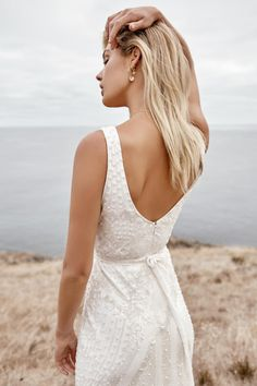 Beaded and Sequin Sparkle Long Sleeve Wedding Dress with Straps, Fitted Bridal Gown. Fontanne by Karen Willis Holmes Luxe Collection Beaded Wedding Gowns, Fancy Wedding Dresses, V Neck Wedding Dress, Stunning Wedding Dresses, Wedding Bells, Bridal Dresses, Wedding Looks, Dream Wedding, Karen Willis Holmes