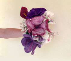 This bounty and rich bouquet is hand-felted especially for you who search for an extraordinary, romantic and eco-friendly gift for your special person or you want to make the happiest day of your l...