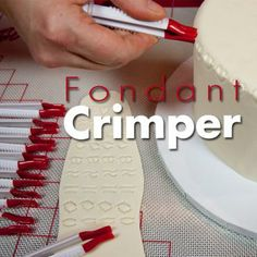 Form and function. Using fondant crimpers.