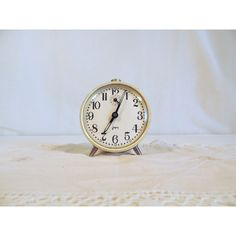 Japy alarm clock in cream with brass fixtures ($25) ❤ liked on Polyvore featuring home, home decor, clocks, brass home decor, alarm clock, alarm-clock, brass home accessories and brass clock