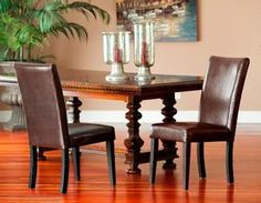 Set of Two Mission Hills Kensington Leather Chairs