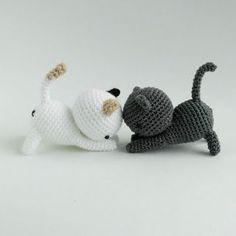 Котик амигуруми крючком из Neko Atsume схема
