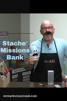 Watch as Mr. Mark makes a Stache' Bank. With only a few supplies, you can make this fun-looking bank for missions too. #KidMin #MoneyforMissions #Stache #DIYBank #KidsCraft #MrMarksClassroom Holiday Crafts, Holiday Ideas, Mission Projects, Classroom, Watch, Fun, Class Room, Clock, Bracelet Watch