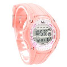DW436C Round Chronograph Alarm BackLight Résistance à l'eau dames femmes Montre numérique