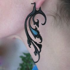 Breathless earrings  horn by sanfranblissco on Etsy, $28.00
