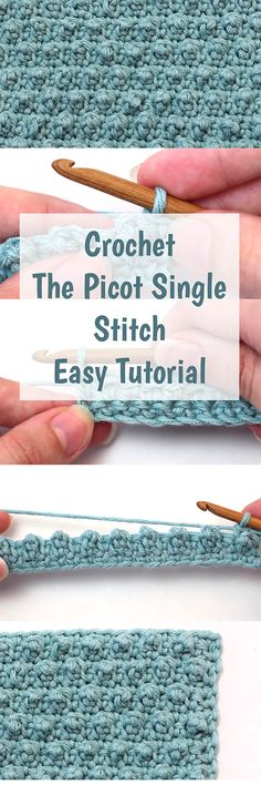 Crochet The Picot Single Stitch Easy Tutorial