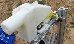 The 3D printed single-shot Liberator pistol in test fire mount (Photo: Defense Distributed...