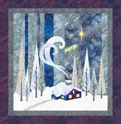 Winter Designed by Uncle Gravy Created using Quilt Fusion #QuiltFusion