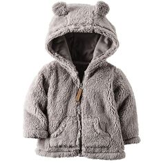 Carter's Baby Boys' or Baby Girls' Hooded Faux-Sherpa Zip-Up Jacket Baby Outfits, Kids Outfits, Baby Boy Tops, Carters Baby Boys, Carters Baby Clothes, Baby Boy Fashion, Fashion Kids, Mom And Baby, Baby Kids