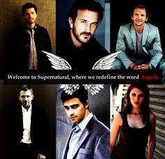 Castiel, Gabriel, Balthazar, Lucifer, Michael and Anna.