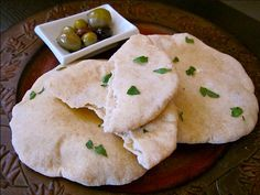Homemade Simple and Fun Pita Bread Recipe - Budget Bytes - Bakery Pita Recipes, Bread Recipes, Vegetarian Recipes, Cooking Recipes, Sweets Recipes, Easter Recipes, Summer Recipes, Homemade Pita Bread, Homemade Hummus