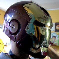 iron man motorcycle helmet.