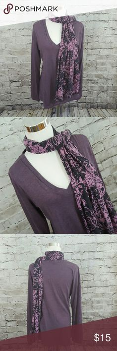 PrAna size large knit shirt and scarf Prana size large Purple be necks net shirt with scarf excellent used condition Prana Tops Tees - Long Sleeve