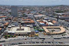 Aracaju vista aérea | Localização de referência Centro histórico | Mercado Municipal Tales Ferraz