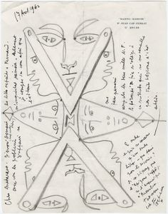 Autograph and illustrated letter signed from Jean Cocteau to gallery owner Henri Matarasso. Jean Cocteau, Artist Sketchbook, Illustration Art, Illustrations, French Artists, Fashion Art, Einstein, This Book, Posters