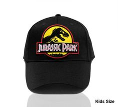 de007af79c6 Kids Jurassic Park Movie Logo Yellow Sci Fi Patch Snapback by TYGP  Dinosaurier Spielzeug