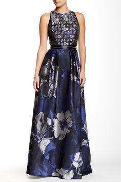 Carmen Marc Valvo | Embellished Gown | Nordstrom Rack