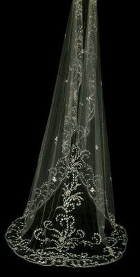 Couture bridal or wedding veil - Gardenia Not the one but the beading is pretty.