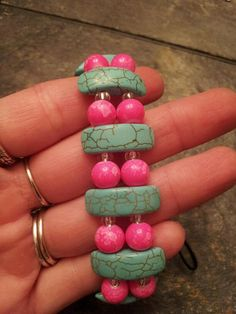 Pretty in Pink Bracelet by coriesutton on Etsy, $15.00