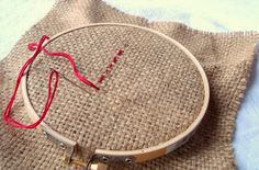 Embroidery Stitches for Kids - it says for kids, but I'm pinning it for me... hahahaha.....