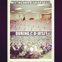 Because it is all for show...not too many people really care...the same boring thing every single meeting