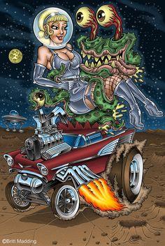 Britt Madding: Hot Rod & Monster Artist   Gallery 4