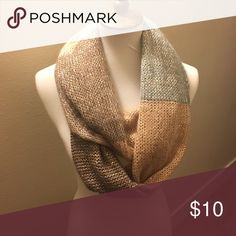 💕Brown and gray tone infinity scarf Brown and gray tone infinity scarf. Measurements to come soon.  Bundle on scarves 3 for $10.  All clothes will be freshly washed before being shipped unless NWT .                  1 Accessories Scarves & Wraps