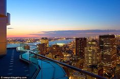 Breathtaking: The penthouse apartments offer 360 degree views of the Hudson and East rivers and iconic Manhattan skyline Manhattan Skyline, Manhattan New York, Lower Manhattan, Apartment View, Penthouse Apartment, Apartment Goals, Cool Apartments, Luxury Apartments, Luxury Homes