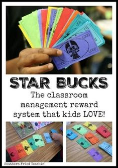 Reward system that kids LOVE STAR Bucks in the classroom? Star Bucks are fun and easy classroom economy system that kids love. Unique teaching idea that reinforces place value. Great for behavior, homework, and participation. Classroom Economy System, Classroom Behavior Chart, Classroom Rewards, Classroom Behavior Management, Behavior Charts, Behaviour Management, Preschool Behavior, Positive Behavior Chart, Autism Classroom