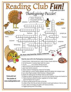 89 Best Thanksgiving Images Thanksgiving Crossword Puzzle