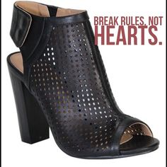 Caged Ankle booties New in box. 2 snap closure in back. 4 inch heel. Man made material. Shoes Ankle Boots & Booties