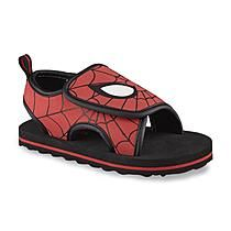 DC Comics Spider-Man Toddler Boy's Red/Black Strap Sandal