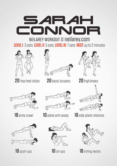 Sarah Connor workout out -- love!