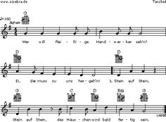 Wer will fleissige Handwerker seh'n - Kinderlieder und Singspiele