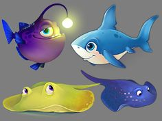 Fishdom characters by Playrix