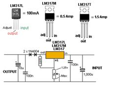 High current adjustable power supply with LM317 and