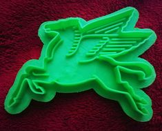 Printed Cookie Cutter Inspired by Mobil Gas Pegasus Fortune Cookie, Appetizers For Party, Pegasus, Cookie Decorating, Baking Soda, Cookie Cutters, 3d Printing, Salt Dough, Cookies