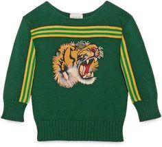 Gucci Children's Sweater Tiger Appliqué