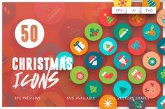 50 Christmas Icons @creativework247