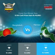 Be aggressive. Really, really aggressive and ‪#‎GrabTheCup‬. Presenting the most fascinating game - Cricket Fantasy in association with Youth Incorporated as Content Partner. http://www.grabon.in/cricketfantasy/ ‪#‎PAKvBAN‬