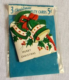 34 Vintage Christmas Stickers and 3 Novelty Card Name Cards Gibson Other   eBay