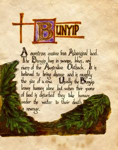 "Book of Shadows: ""Bunyip II,"" by Charmed-BOS, at deviantART."