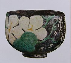 Tea bowl with pattern of Flower of Bottle Gourd: Ogata Kenzan, early 17th century.  #ceramics #pottery