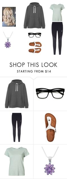 """Confrontations"" by cnquint on Polyvore featuring MANGO, ZeroUV, NIKE, Birkenstock, rag & bone and NOVICA"