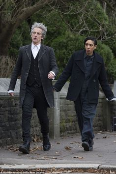 In character: The Doctor looked typically smart in a buttoned-up white shirt, black waistc...